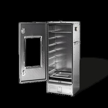 Smoki Räucherofen 1042 100x39x33cm Geprägter Cr-Edelstahl Mit Fenster Räucherschrank  – Bild 1