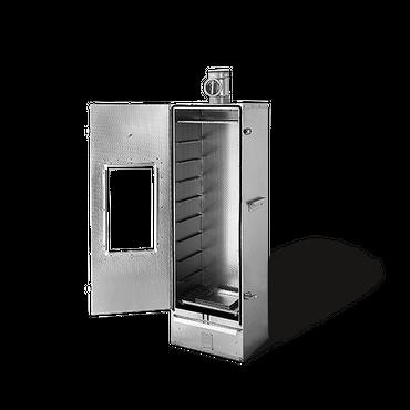 SMOKI - ISOLIERT + Fenster Räucherofen 150x39x33cm aus 1.4301 V2A-Edelstahl