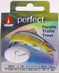 VMC Perfect Forelle gebundene Sbirolinohaken 200cm Vorfach 001