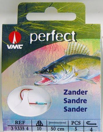 VMC Perfect Zander Einfachhaken Rot Kevlarvorfach Einzelhaken Zanderhaken