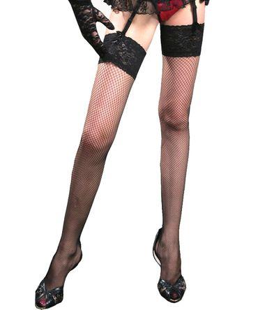 Beautys Love Netz-Stockings halterlos schwarz – Bild 2