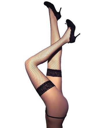 Beautys Love Netz-Stockings schwarz