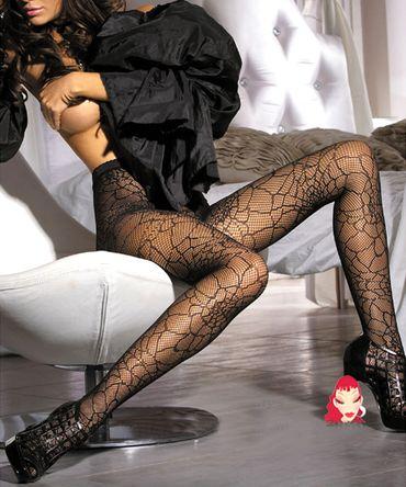 Beautys Love Netz-Strumpfhose schwarz – Bild 1