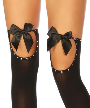 Beautys Love Stockings mit Strass  schwarz – Bild 2