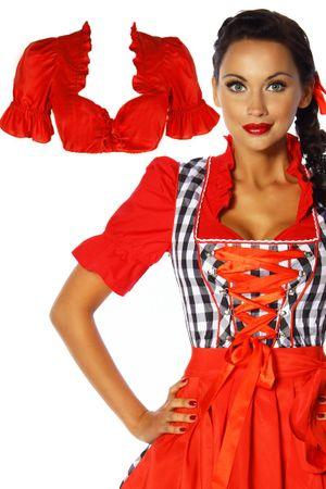 Dirndl-Bluse rot – Bild 2