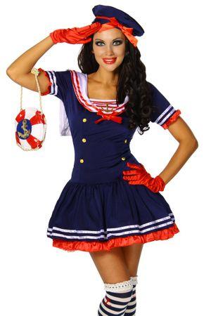 Marine-Kostüm blau/rot/weiß – Bild 3