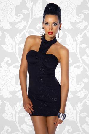 Mini-Kleid schwarz/gold – Bild 1