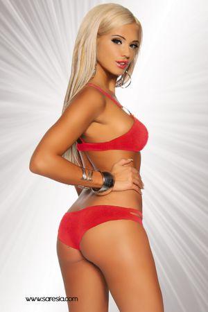 SARESIA Gogo-Bikini rot – Bild 2