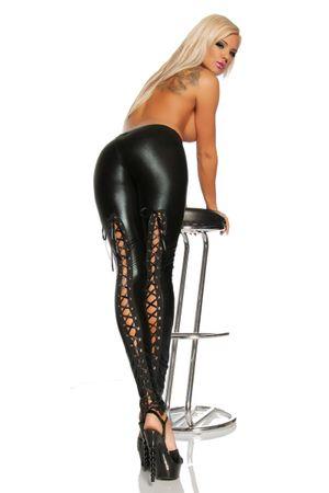 SARESIA Wetlook-Leggings schwarz – Bild 4