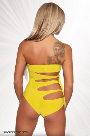 SARESIA Monokini gelb – Bild 2