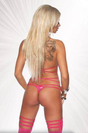 SARESIA Gogo Wickel-Bikini pink – Bild 2