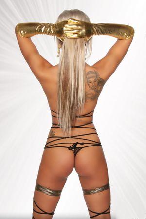 SARESIA Gogo Wickel-Bikini gold/schwarz – Bild 2