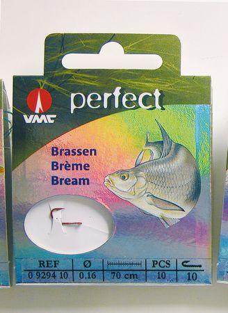 VMC Perfect Brassen - rot gebundene Haken