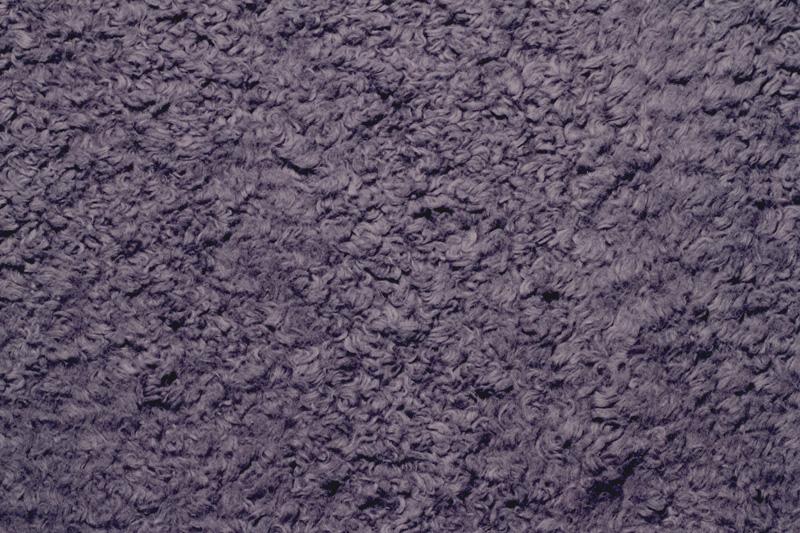 Bio Baumwollstoff Teddyplüsch grau