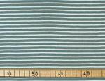 Bio Baumwolle Jersey GOTS Streifen weiß hellblau  001
