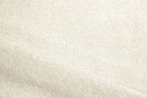 Bio Baumwolle Frottee weiß creme