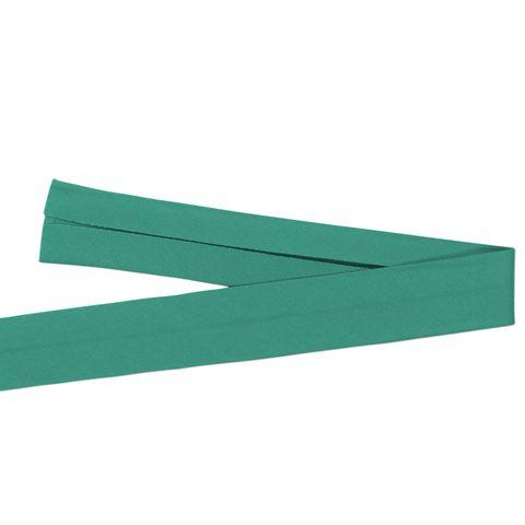 Bio Baumwolle Schrägband türkis grün