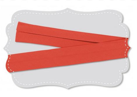 Bio Baumwolle Schrägband rot orange