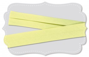 Bio Baumwolle Schrägband gelb