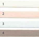 Bio Baumwolle Doubleface Satinband weiß rosa taupe hellblau 12mm  001