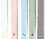 Bio Baumwolle Satinband weiß rosa taupe hellblau hellgrün 6mm  001