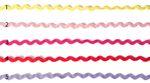 Baumwolle Zackenlitze 6mm breit in lila rot pink rosa oder gelb  001