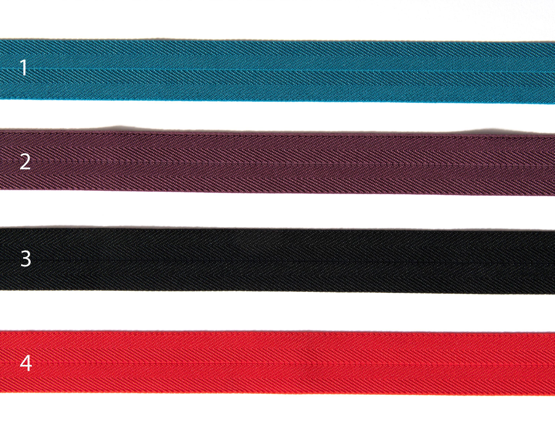 Gummiband Paspel Einfassband 2,5cm elastisch, bunt