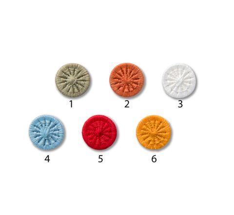 Knöpfe 15mm Baumwolle Zwirnknopf bunt rund 1 Stück