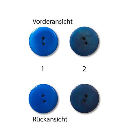 Knöpfe 23mm Steinnuss GOTS rund indigo blau 1 Stück
