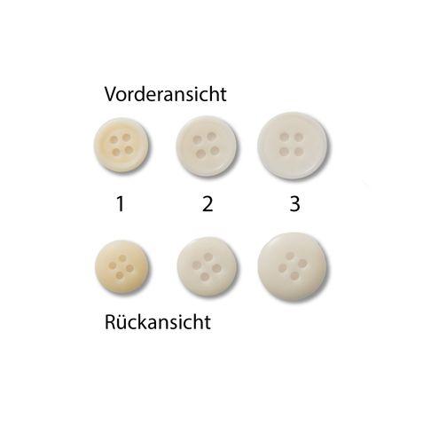 Knöpfe 11,5mm 12,5mm 15mm Steinnuss GOTS rund natur weiß creme 1 Stück