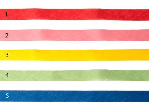 Webband 30mm Baumwolle Schrägband offen bunt uni