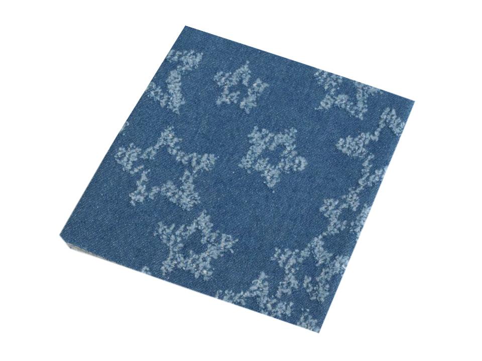 Aufnäher Flicken Jeans Sterne ca. 43cm x 17cm am Stück