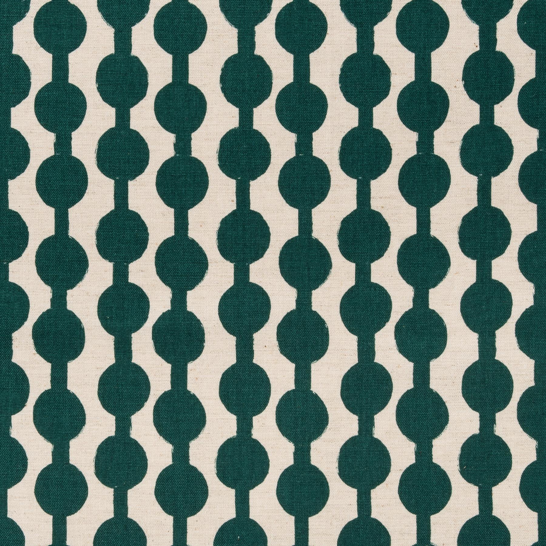 Baumwolle Leinen Canvas grafisches Muster in grün