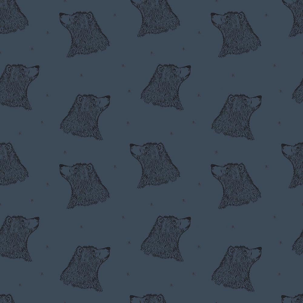 Bio Sweat mit Elasthan Bären auf blau