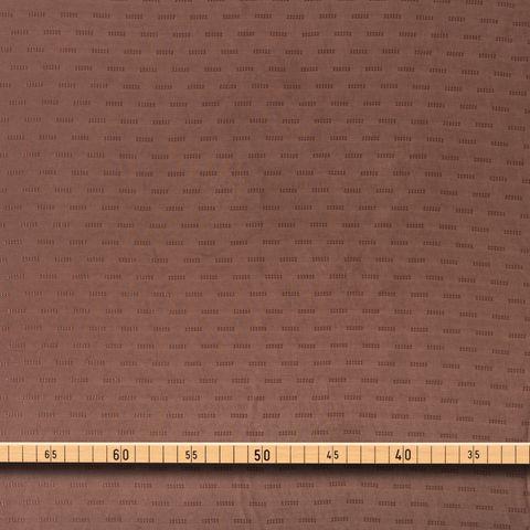 Futterstoff Viskose Jacquard hellbraun glänzende Streifenoptik