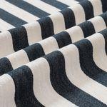 Canvas Streifen Baumwolle mit breiten Streifen in dunkelblau und creme weiß  001