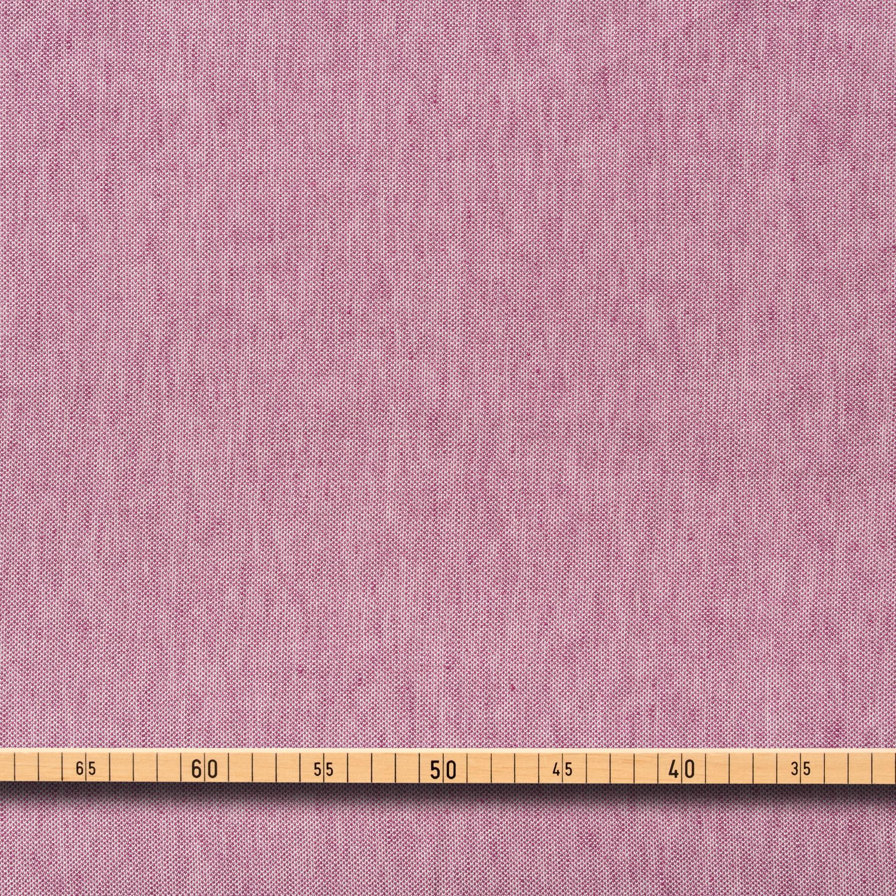 Leinen Baumwolle Piqué Chambray in pink und creme weiß
