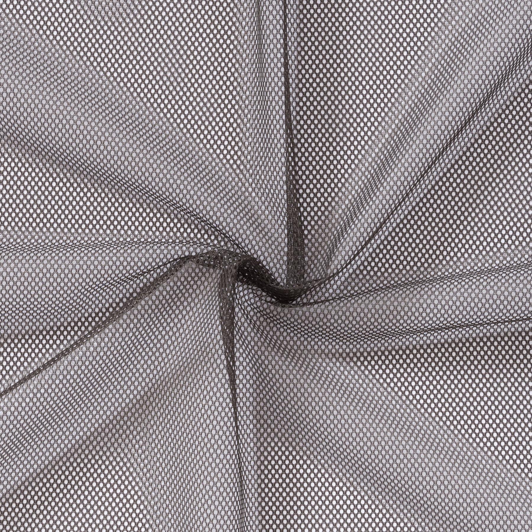 Mesh Polyester dunkelgrau uni
