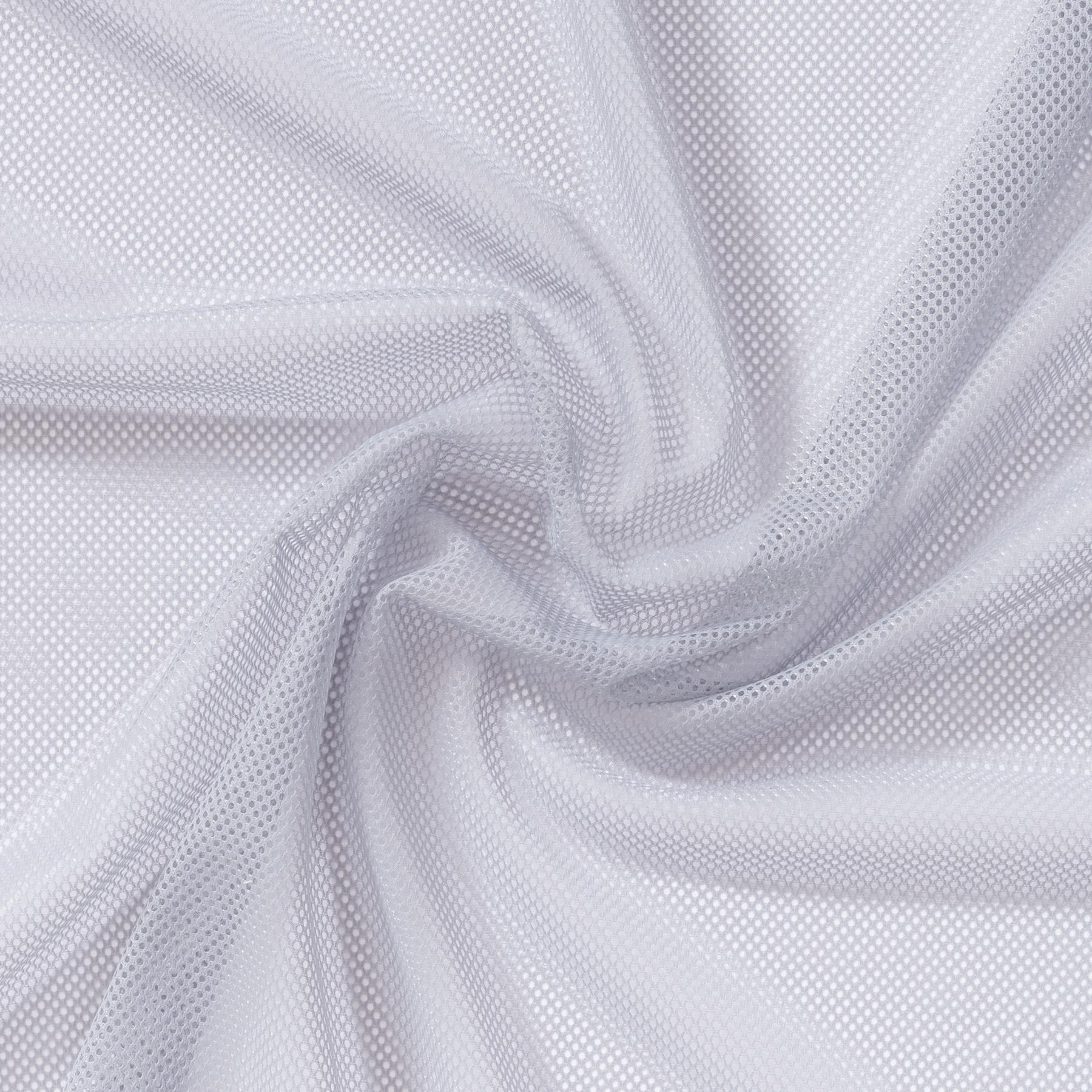 Mesh aus Polyester hellgrau uni