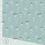 Bio Baumwoll Jersey (GOTS) Blumen auf mint  001