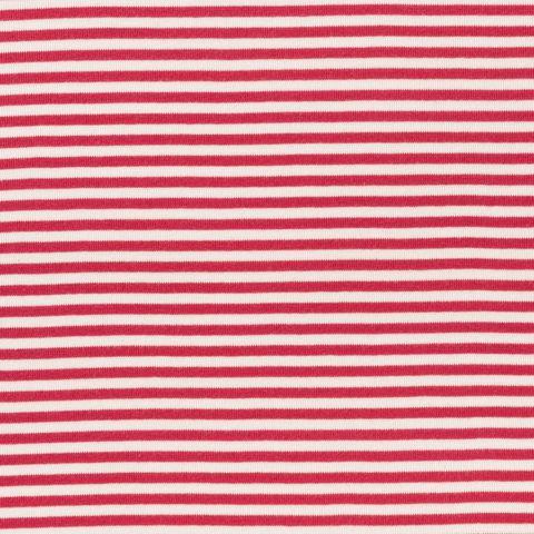 Bio Baumwolle Bündchen (GOTS) gestreift rot creme weiß