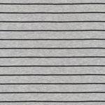 Bio Baumwolle Jersey GOTS Streifen grau schwarz  001
