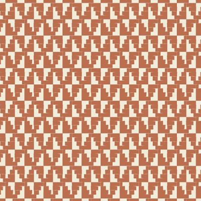 Baumwolle Popeline kupfer braun cremeweiß gemustert