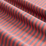 Bio Baumwolle Jersey GOTS Streifen grau rot  001