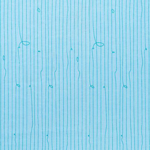Bio Baumwolle Jersey GOTS grüne Linien auf hellblau