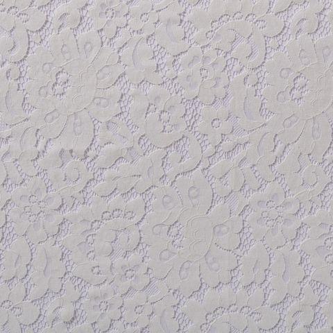 Spitze Baumwolle Nylon Blumen creme weiß