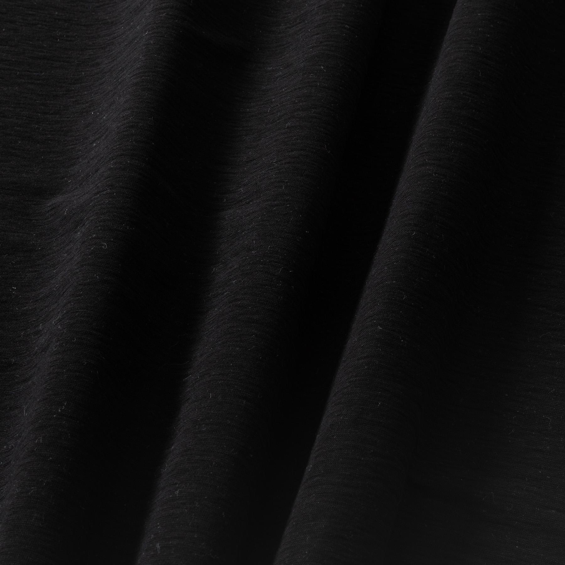 Flammgarn Baumwolle Leinen Jersey schwarz