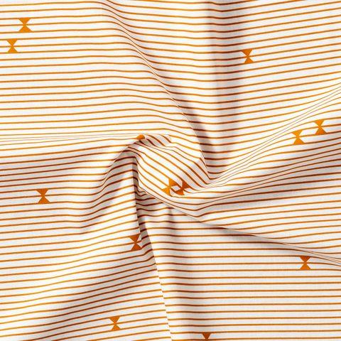 Baumwolle Popeline Querstreifen orange grafischen Akzenten