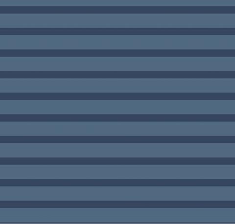 Viskose Voile Streifen in dunkelblau auf mittelblau