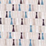 Baumwolle Canvas GOTS geometrisches Muster in grau, blau, beige Tönen